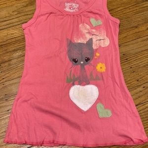 Kitty Cat Print Tank Size Small.